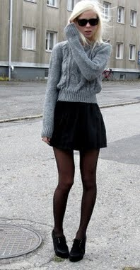 Mini skirt pantyhose agree with