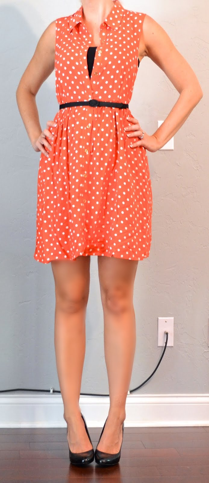 Outfit Post Orange Polka Dot Dress