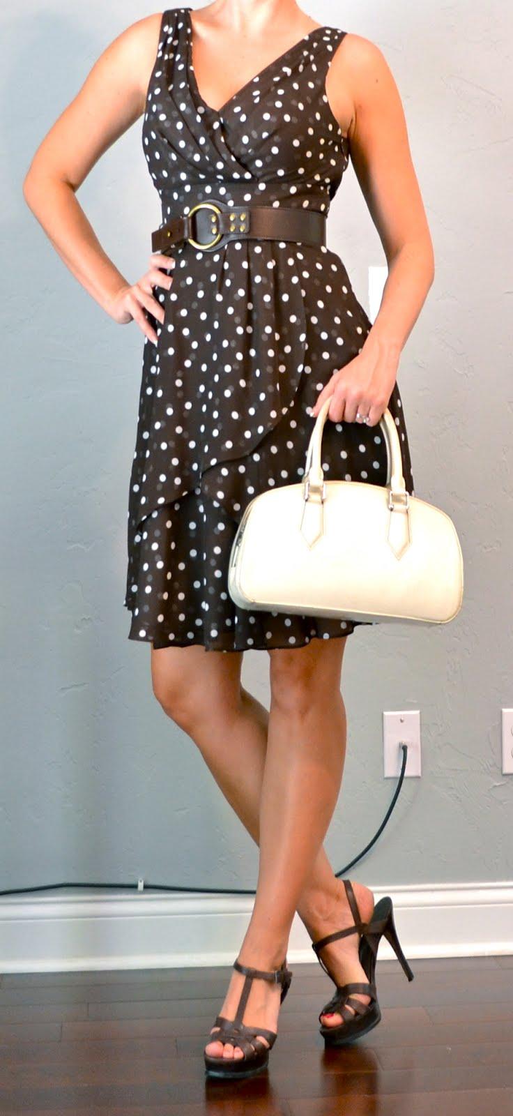Outfit Post Brown Polka Dot Pretty Woman Dress