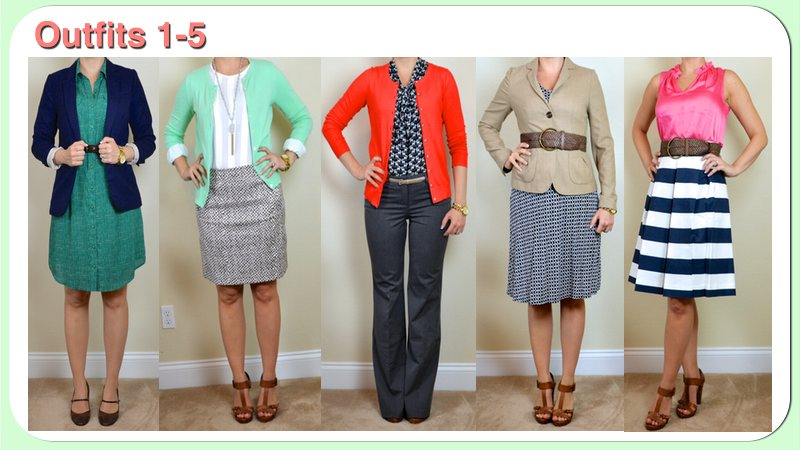 bd1188768d Here are the first 5 outfits for my Spring Business Casual trip made from  the clothing pieces listed here