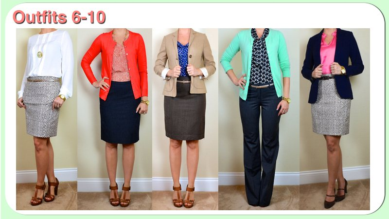8bd4d53bcf Here are next 5 outfits for my Spring Business Casual trip made from the  clothing pieces listed here