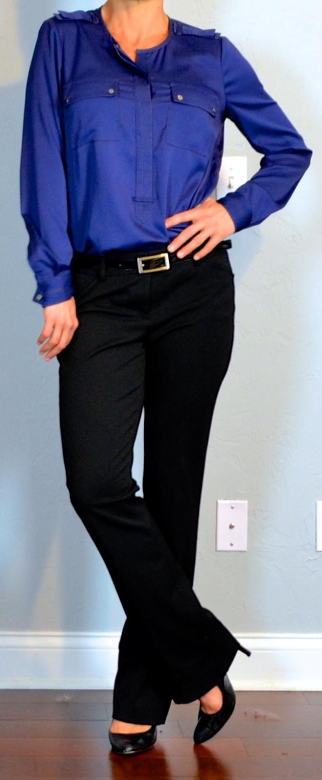 74913e80c3e9e4 outfit post  navy silk blouse