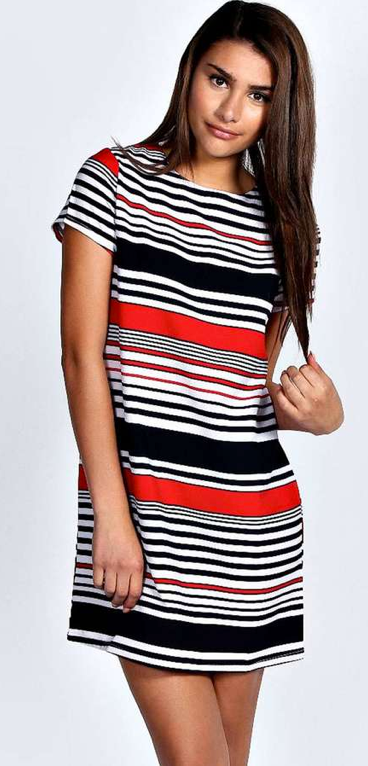 Guest Post Sister Week Red White Black Striped Dress