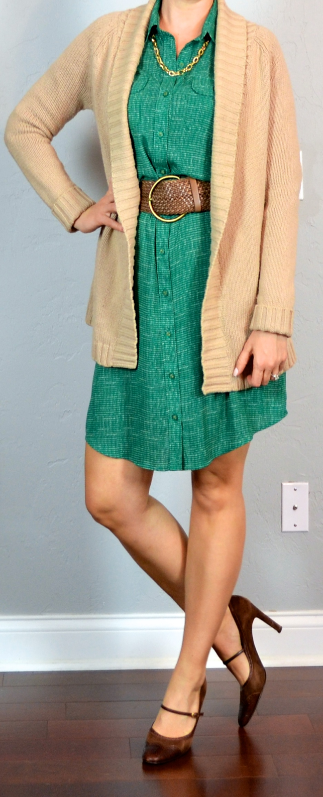 54e8ad54f14 outfit post  green shirt dress