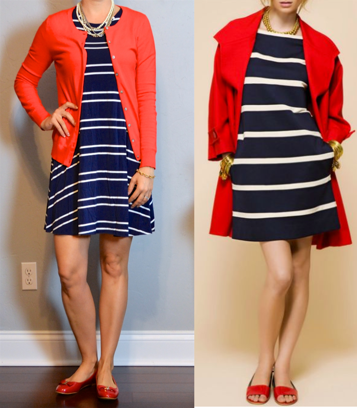 9c719e3934a outfit post  striped navy swing dress
