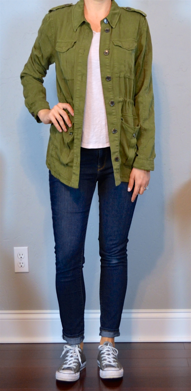outfit post – highlands, nc: army jacket, pink t-shirt ...