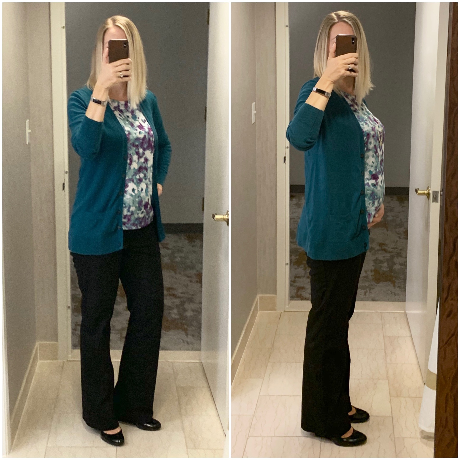 890c305cd15f8 Depending on the top I choose I look significantly more or less pregnant. I  think this top sort of skims my stomach and depending on how I'm standing  it's ...