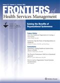 image of Frontiers of Health Services Management