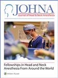 image of Journal of Head & Neck Anesthesia