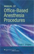 image of Manual of Office-Based Anesthesia Procedures