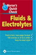 image of Nurse's Quick Check: Fluids and Electrolytes
