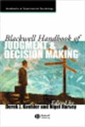 image of Blackwell Handbook of Judgment and Decision Making