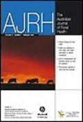image of Australian Journal of Rural Health