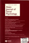 image of Asian Journal of Social Psychology