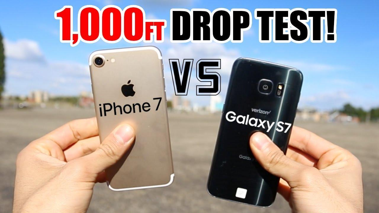 Extreme drop test pits the iPhone 7 against the Galaxy S7 from 1,000 feet