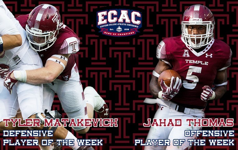 Matakevich and Jahad Thomas were named to the ECAC Players of the Week list