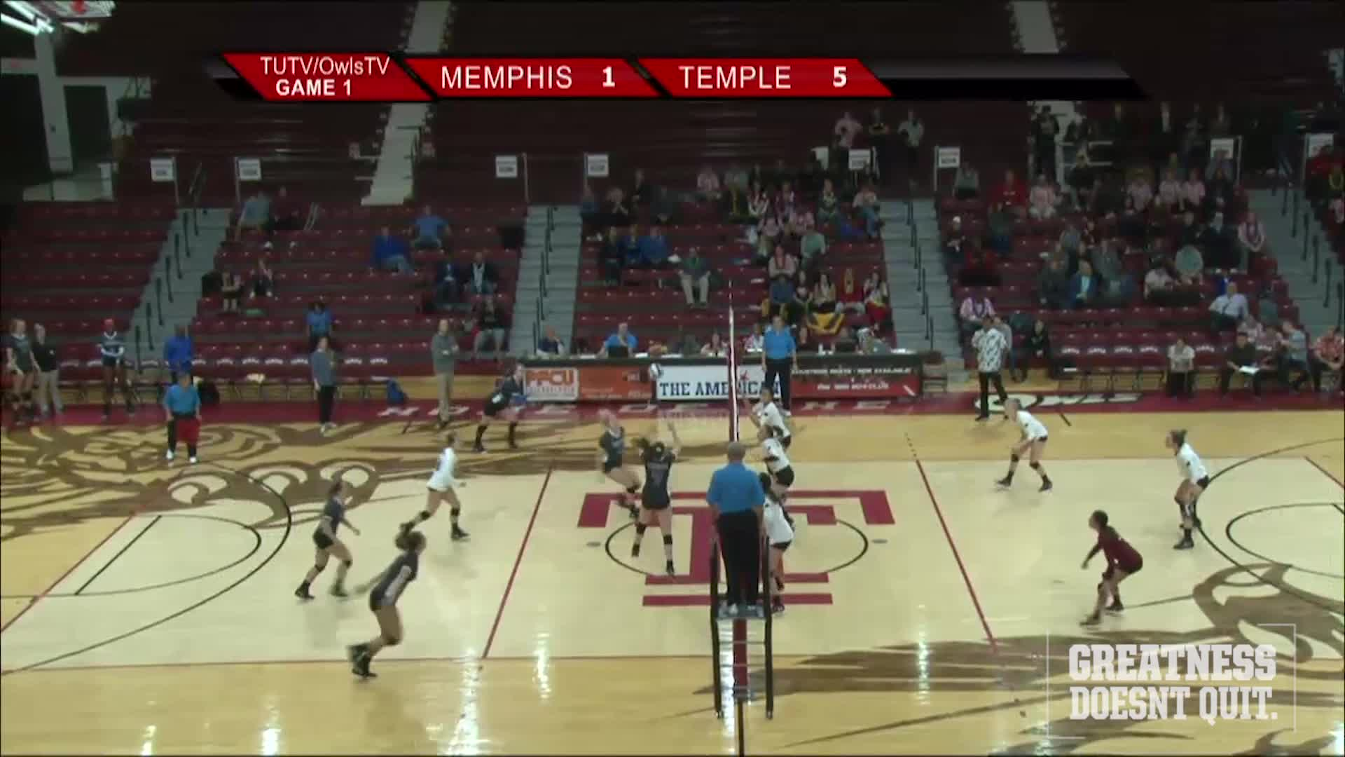 Volleyball Sweeps Memphis
