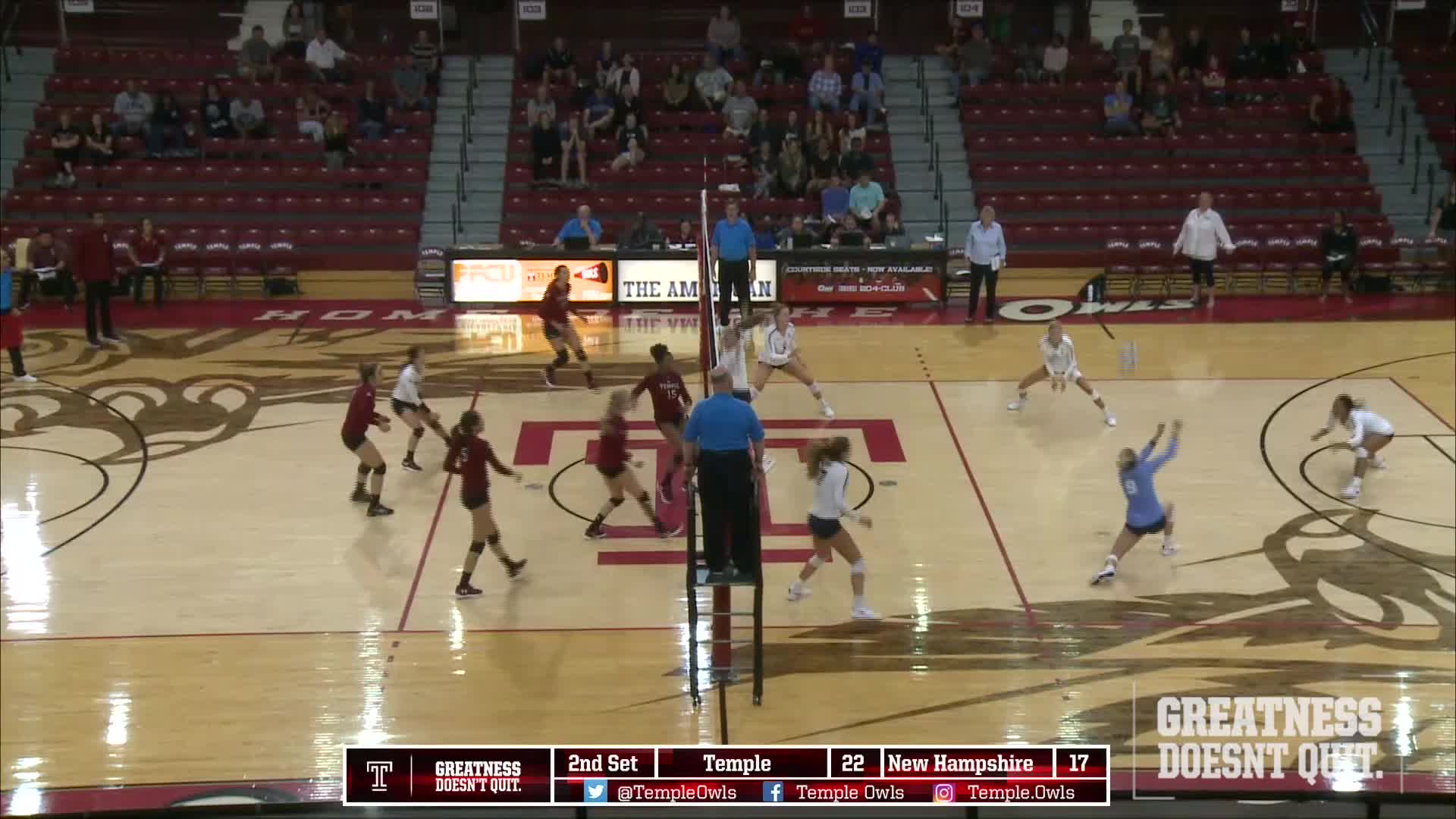 Volleyball defeats New Hampshire 3-1