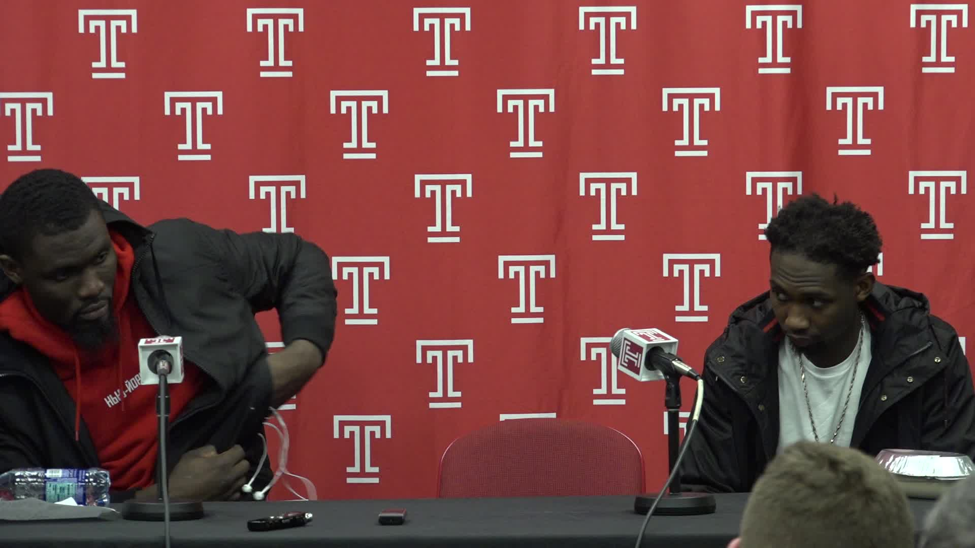 Shizz Alston Jr. and Ernest Aflakpui Post-Penn Press Conference