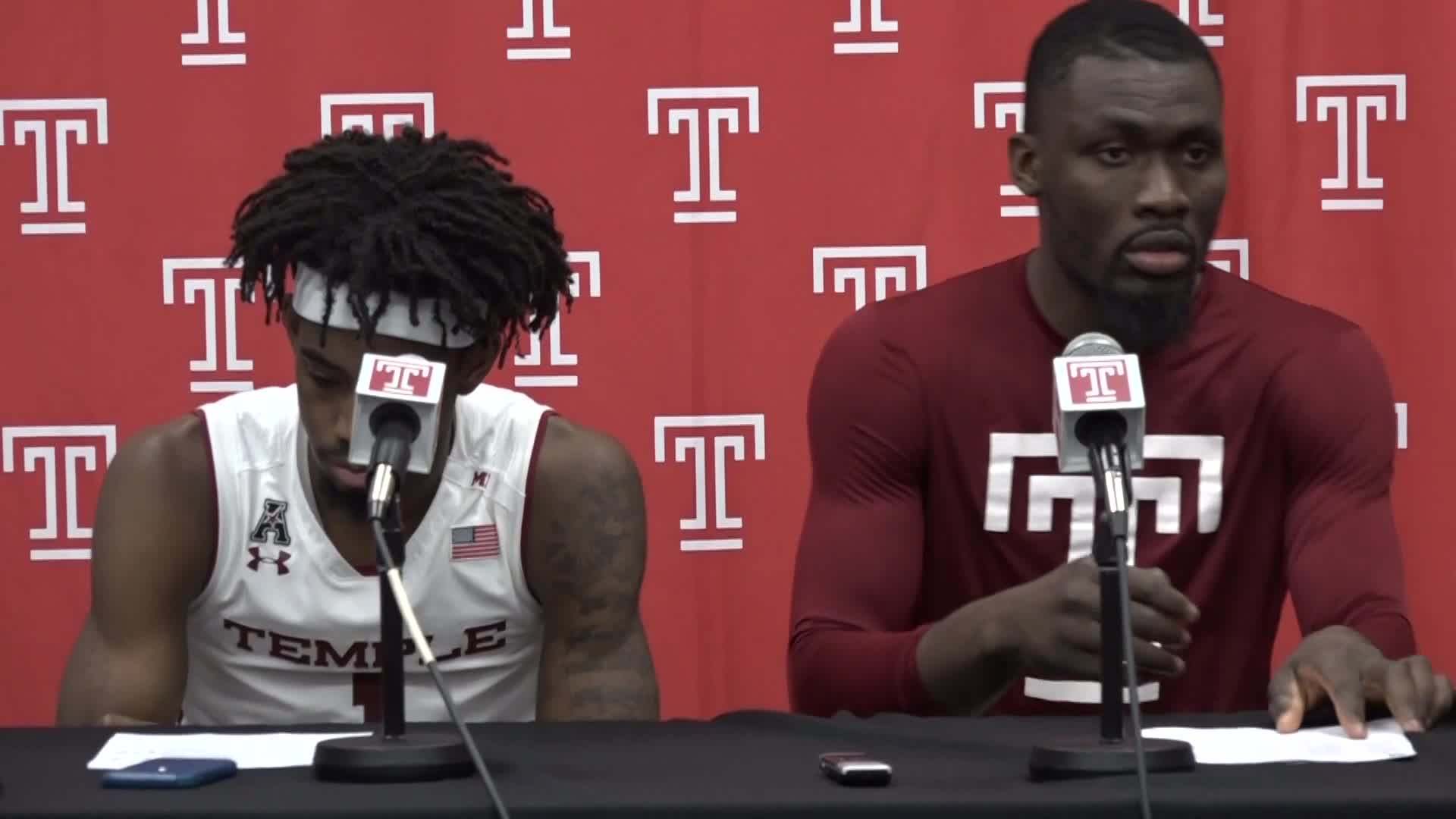 Quinton Rose and Ernest Aflakpui Post-Houston Press Conference