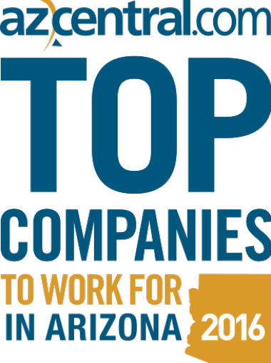 Award for Top Companies to Work In AZ 2016