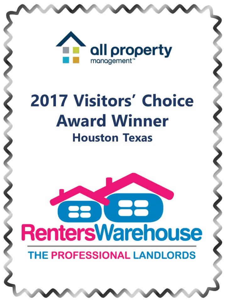 Award for 2017 All Property Management Visitors Choice Award