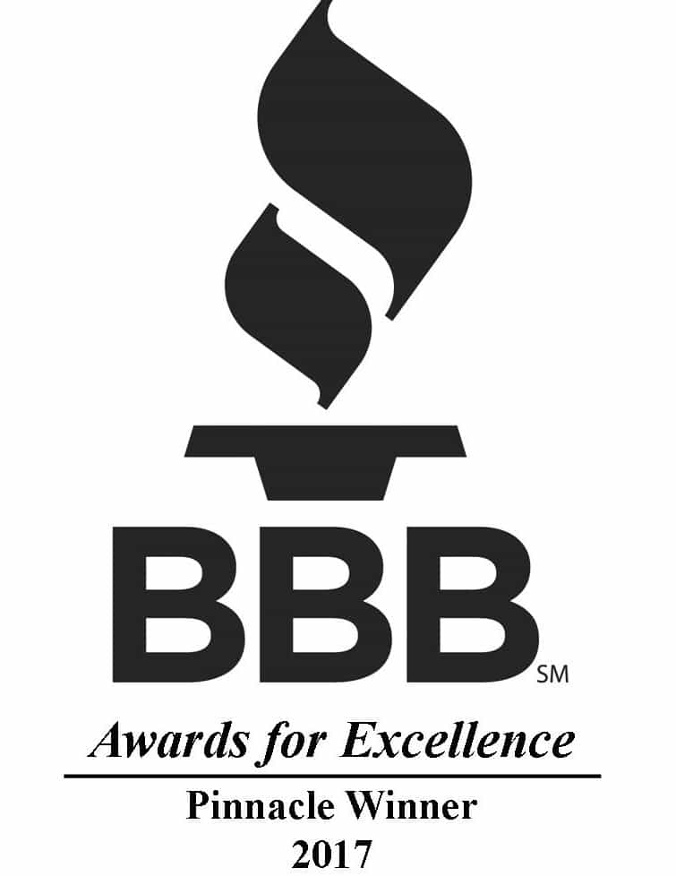 Award for 2017 BBB Pinnacle Winner