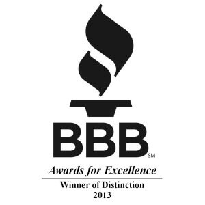 Award for Better Business Bureau Winner Of Distinction Award 2016
