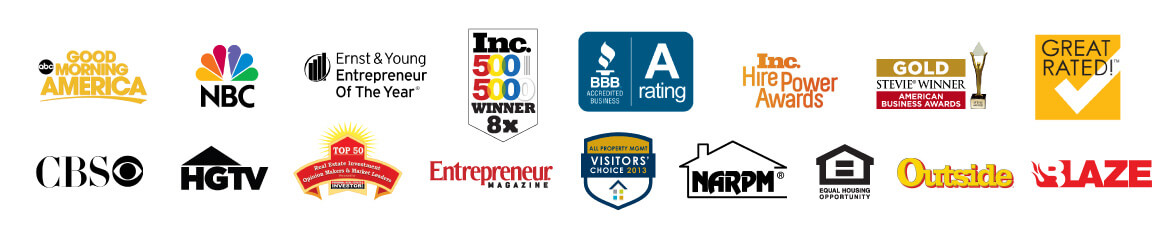 Renters Warehouse Awards Logos