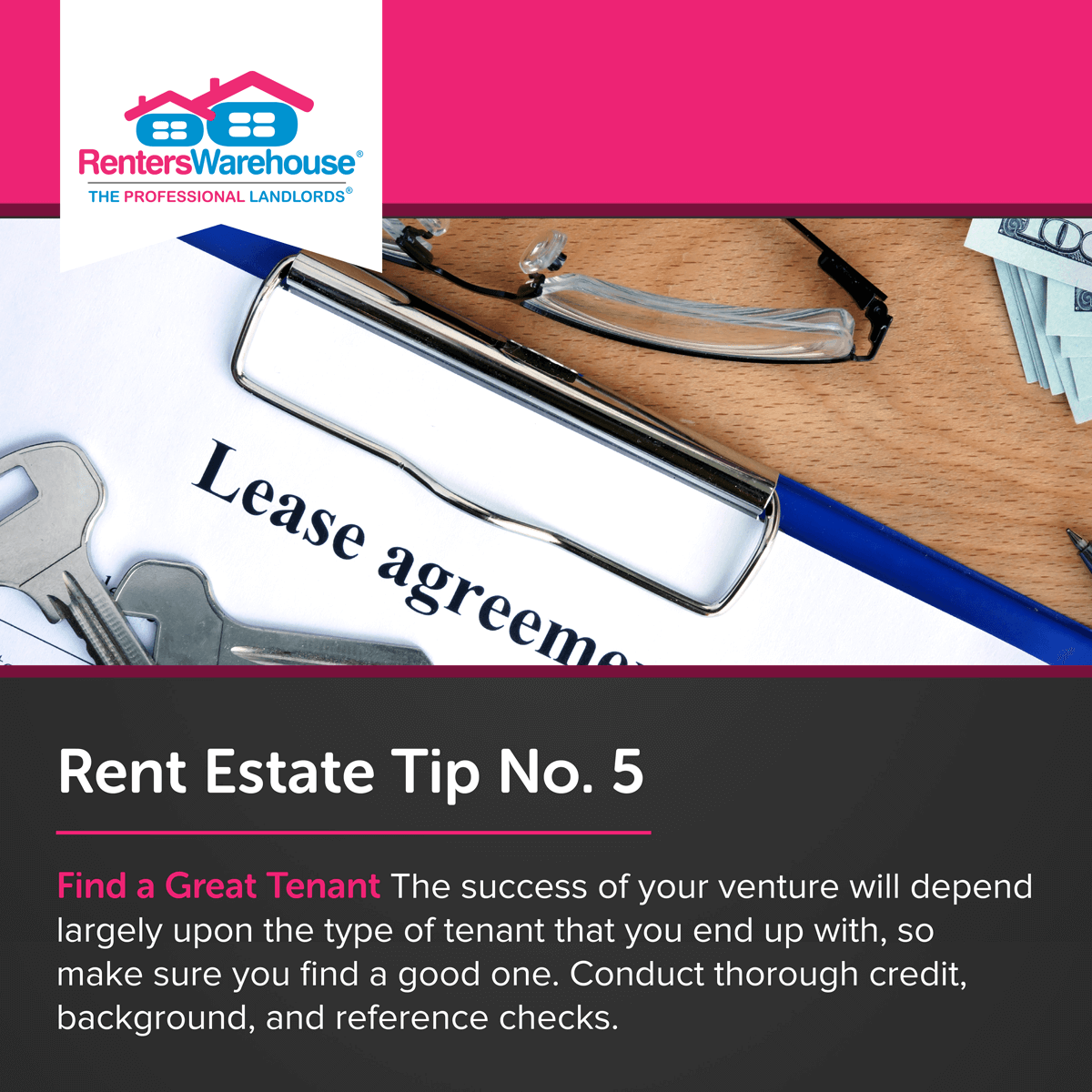 Image related to Rent Estate™ Tip No. 5 - Find a Great Tenant