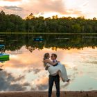 Northwoods Wisconsin Backyard Wedding