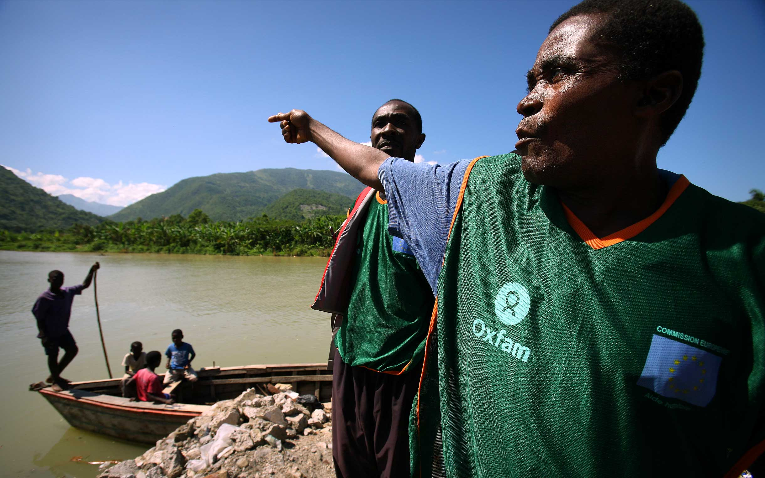 Disaster response training in Haiti. Photo: Abbie Trayler-Smith/Oxfam