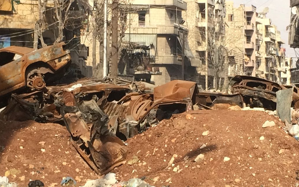 Russia sends sappers to clear east Aleppo mines