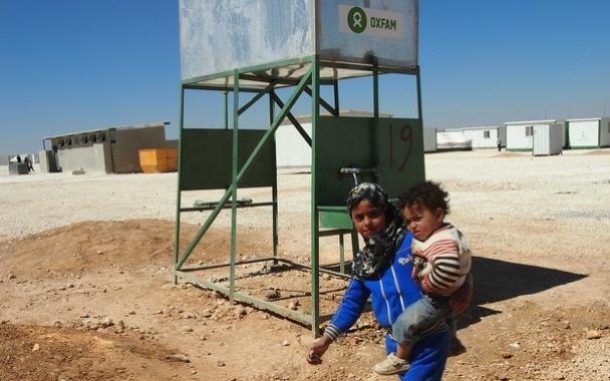 Children in Zaatari refugee camp in Jordan. Image by Caroline Gluck/Oxfam.