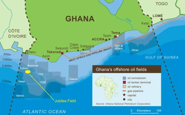 This Map Details Ghana S Offs Oil Fields Terminals Refineries And Pipelines