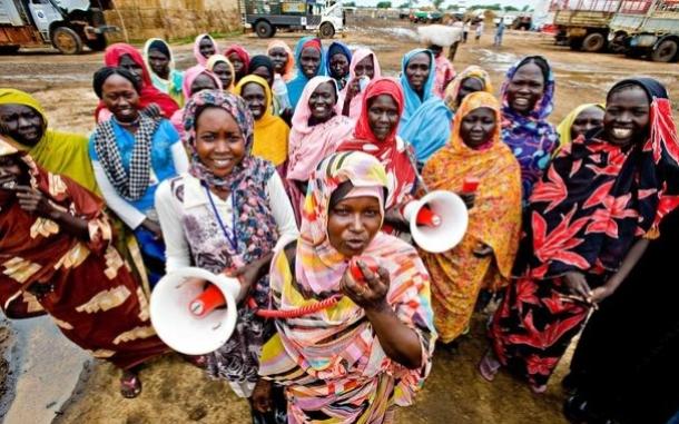 Women's committee in South Sudan. Photo: John Ferguson/Oxfam.
