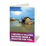 Help a village recover from a disaster