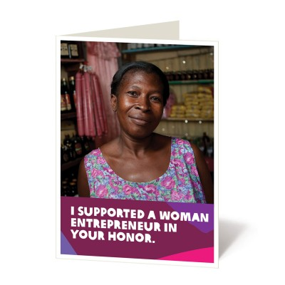 Support a woman entrepreneur