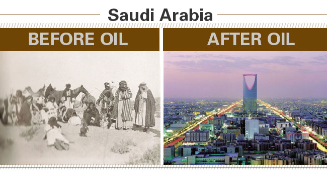 Saudi Arabia Before and After Oil
