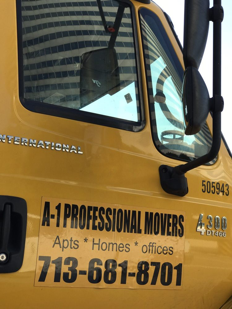 A-1 Professional Movers - Houston, TX