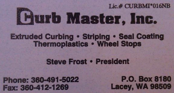 Curb Master, Inc. - Olympia, WA