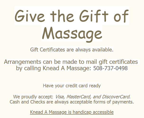 Knead A Massage