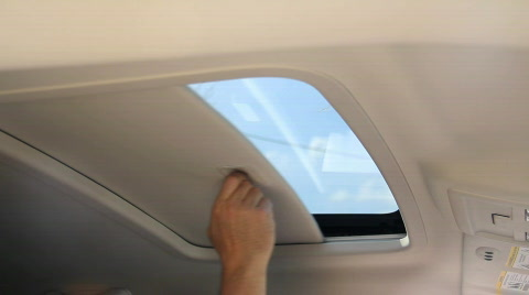 Opening and closing a vehicle's sunroof.
