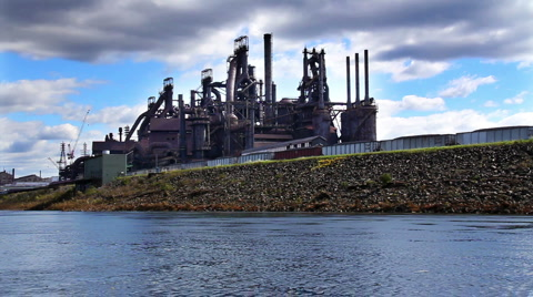 The Bethlehem Steel factory in Bethlehem, Pennsylvania.