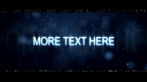 5 customizable texts fading in and out with glamorous lights and dust particles. Music is included No plug-ins needed. If more text spots are needed then the video can be looped as the first and the last frame are identical. Instructions on how to use this project are included aswell as render comps for 1080, 720, PAL widescreen and NTSC widescreen