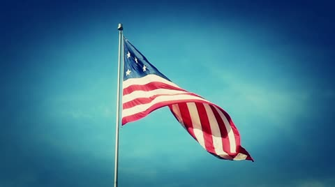 A 13-star American flag.  Shot at 60fps for true in-camera slow motion.