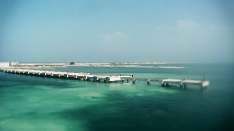 A ship leaves the 4-mile long pier in Progreso, Mexico.
