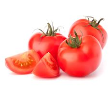 tomato vegetables pile isolated on white background cutout