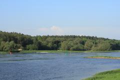 elbe river in spring in Saxony-Anhalt / Germany