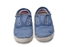 shoes for kids isolated over a white background.